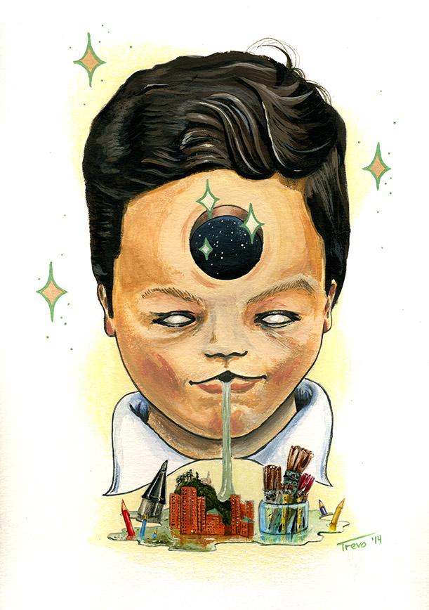 Retrato del artista visual de Colombia Santiago Ayerbe